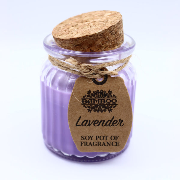 Lavender Pot Soybean Candle