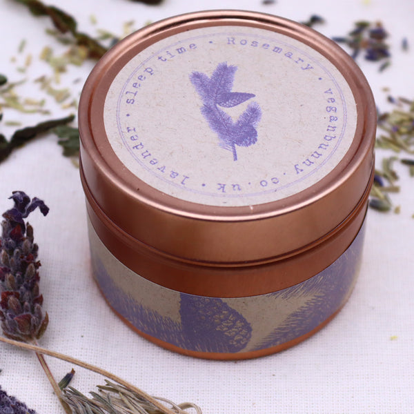 Self Care Luxury Sleep Time Candle Lavender And Rosemary