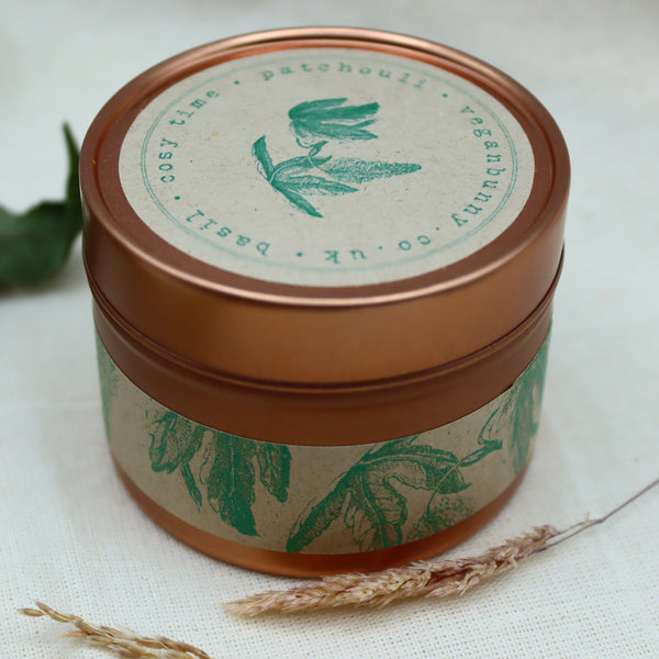 Luxury Self Care Candle Patchouli And Basil