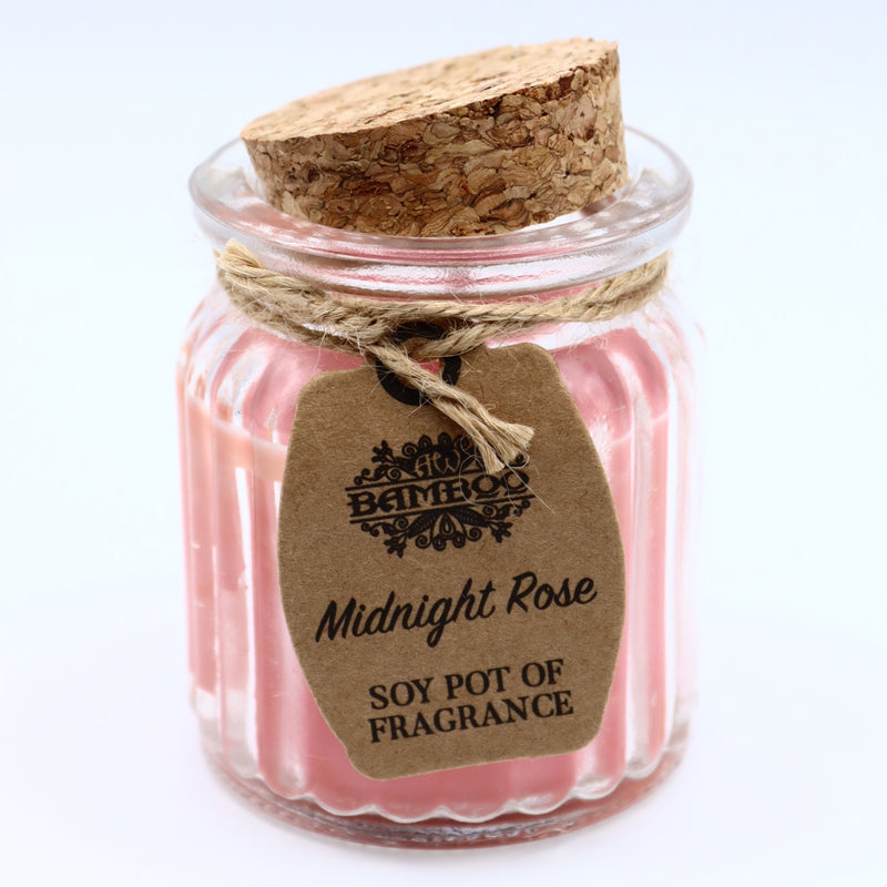 Midnight Rose Pot Soybean Candle