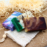 Set of 3 Handcrafted Artisan Olive Oil Soaps with Just Soap Bag