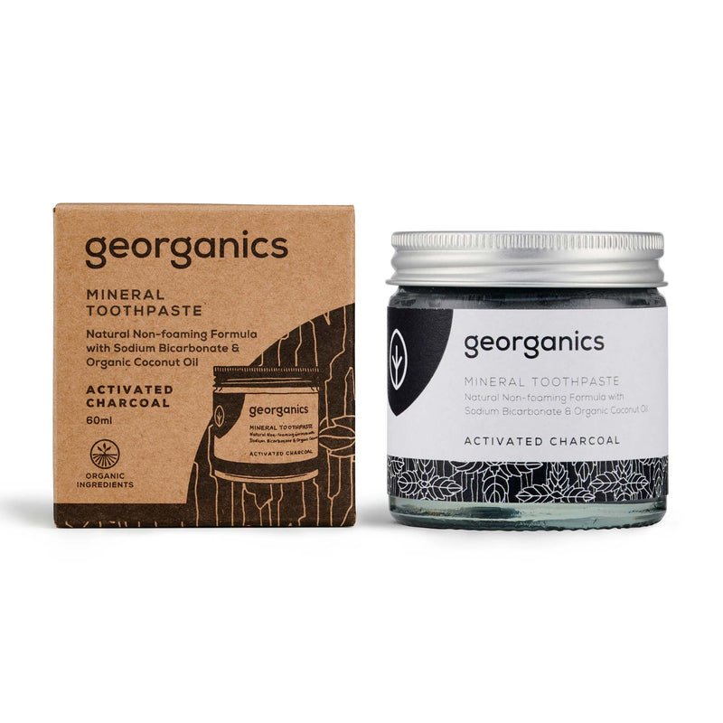 Natural Mineral Toothpaste - Activated Charcoal 60ml