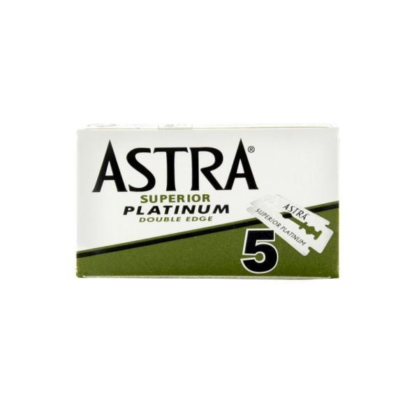 Astra Superior Platinum Double Edge Razor Blades - Pack of 5