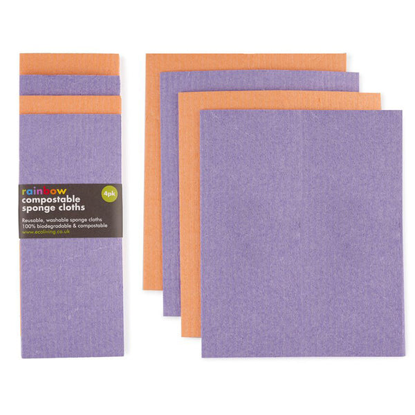 Compostable Sponge Cleaning Cloths - Rainbow Bright