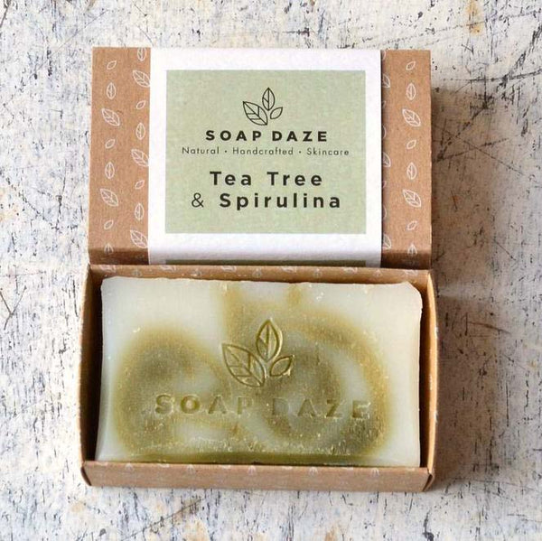 Tea Tree and Spirulina Handmade Natural Vegan Soap