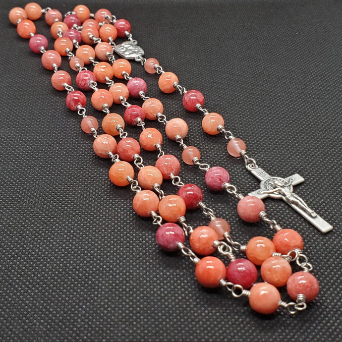 R0005 - Orange/Red Rosary