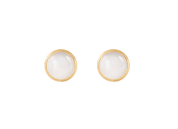 """LOTUS"" EARSTUDS WHITE MOONSTONE"