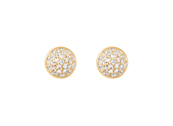 """LOTUS"" EARSTUDS DIAMOND PAVÉ"