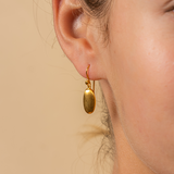 Birim earrings in 18K Yellow Gold made by JULI KA fine arts jewelry in Innsbruck Austria