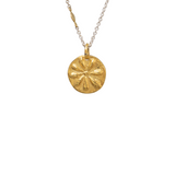 HANDMADE WITH LOVE SUN COIN PENDANT