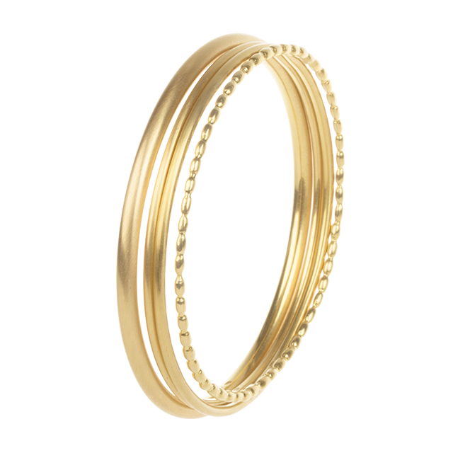 BANGLES Á TROI 18K YELLOW GOLD