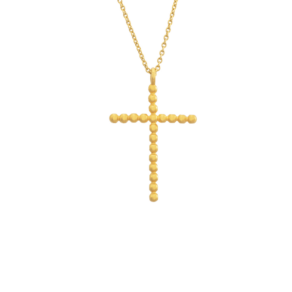 golden cross by JULI KA fine arts jewelry
