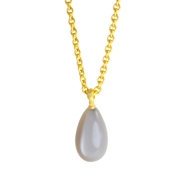 pearl gold pendant by JULI KA fine arts jewelry
