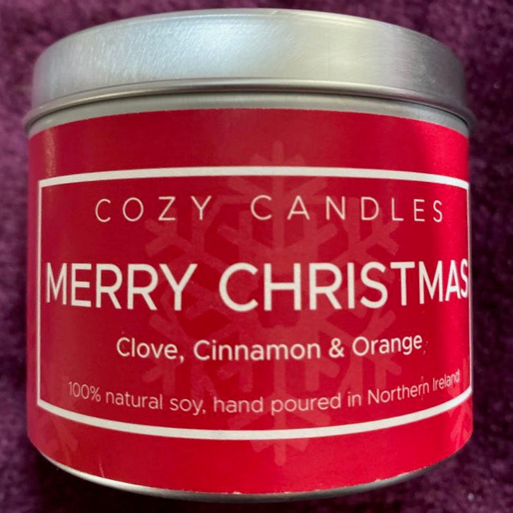 Cozy Candle Merry Christmas