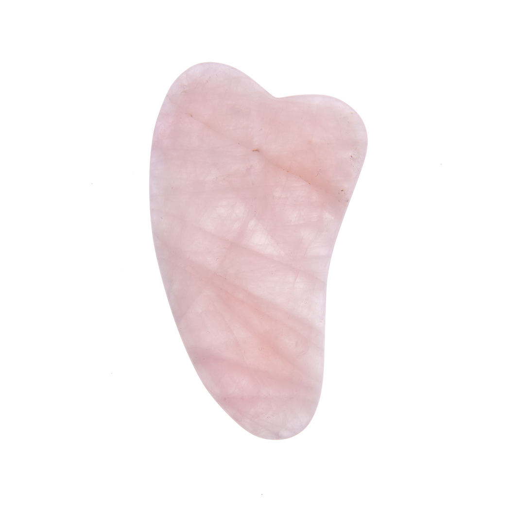 Rose Quartz Gua Sha - Natural Chemical Free Crystal in Silk-Lined Box