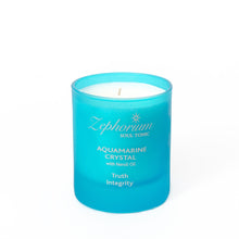Load image into Gallery viewer, Aquamarine Crystal Affirmation Coconut Wax Candle