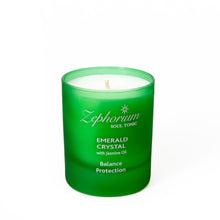 Load image into Gallery viewer, Emerald Crystal Affirmation Coconut Wax Candle
