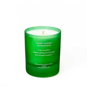 Emerald Crystal Affirmation Coconut Wax Candle