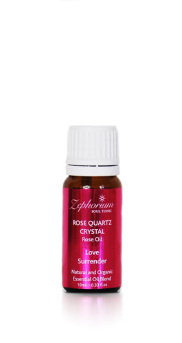 Rose Quartz & Rose Oil Organic Essential Oil Blend