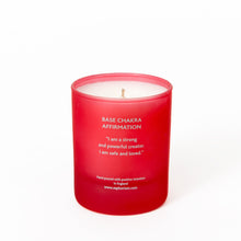 Load image into Gallery viewer, Ruby Crystal Affirmation Coconut Wax Candle