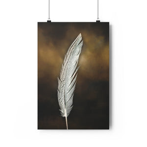 Pheasant Feather #2 Print | Feather Wall Art  - Giclée Art Print