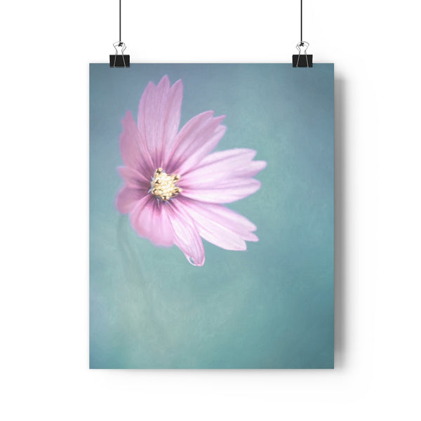 Pretty in Pink Cosmo Floral Wall Art - Giclée Art Print