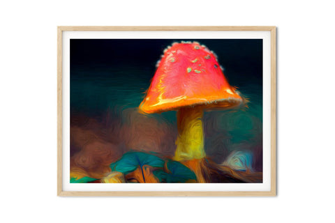 Magic Mushroom Wall Art - Giclée Art Print