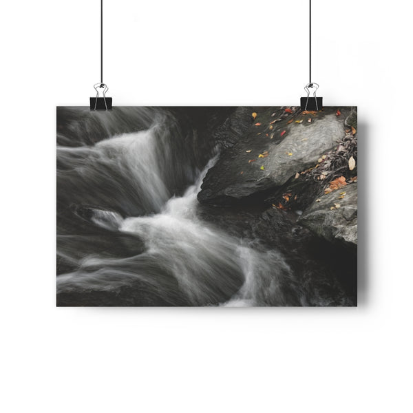 October Waterfall Rock | Waterfall Wall Art | Giclée Art Print