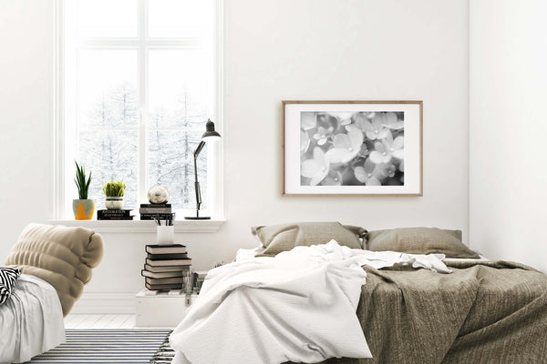 Hydrangea #1 Wall Art - Giclée Fine Art Print in Black and White