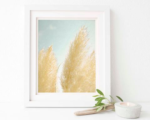 Pampas Grass Botanical Painting #1 Wall Art - Giclée Art Print