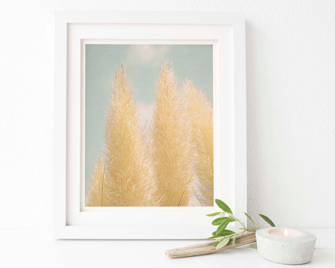 Pampas Grass Botanical Painting #2 Wall Art - Giclée Art Print