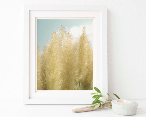 Pampas Grass Botanical Painting #3 Wall Art - Giclée Art Print