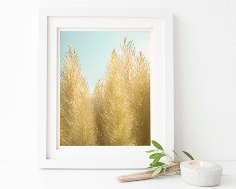 Pampas Grass Botanical Painting #4 Wall Art - Giclée Art Print