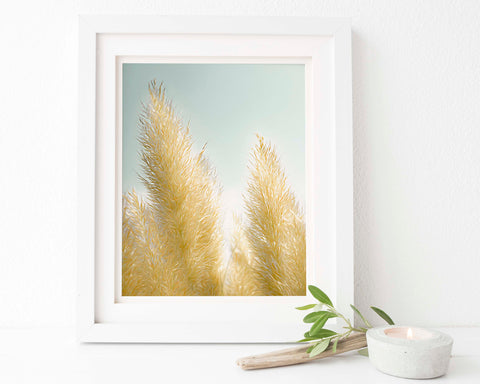 Pampas Grass Botanical Painting #5 Wall Art - Giclée Art Print
