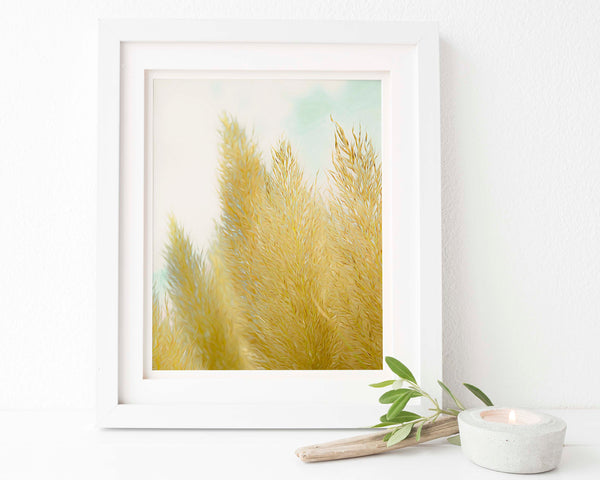 Pampas Grass Botanical Painting #6 Wall Art - Giclée Art Print