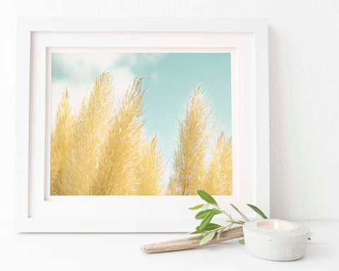 Pampas Grass Botanical Painting #8 Wall Art | Giclée Art Print
