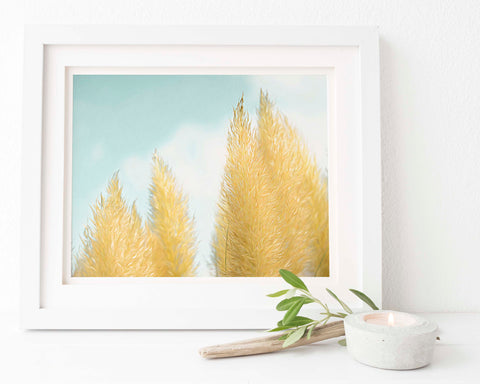 Pampas Grass Botanical Painting #9 Wall Art | Giclée Art Print