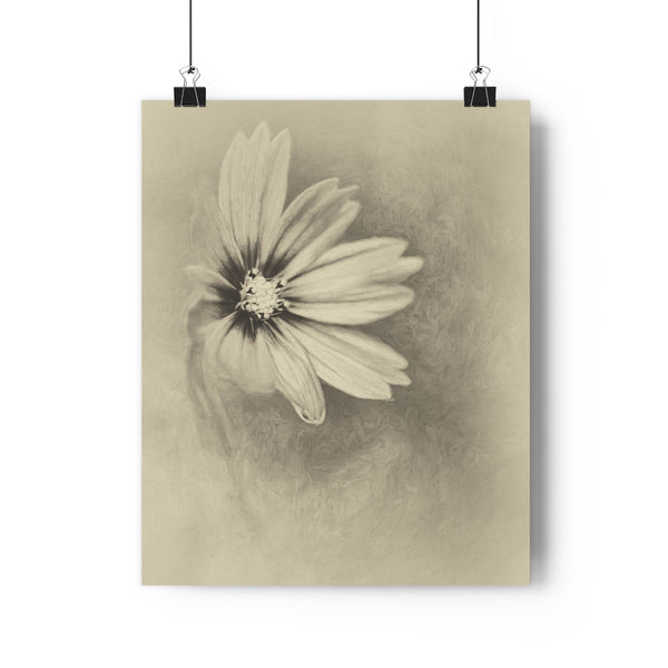 Pretty in Pink Cosmo Vintage Floral Wall Art - Giclée Art Print