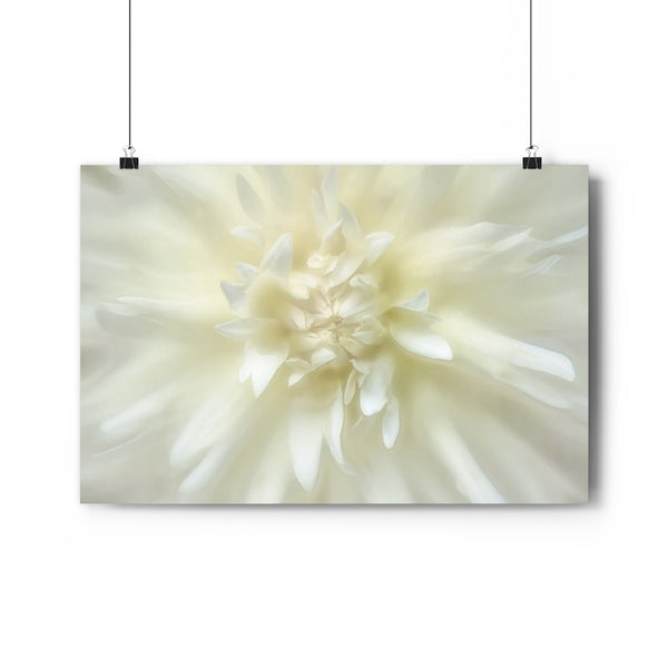 Light Yellow Dahlia Floral Wall Art | Giclée Art Print