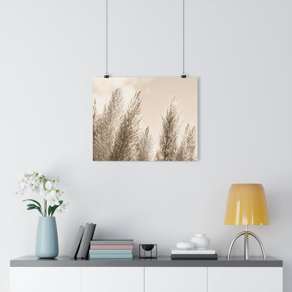 Pampas Grass Botanical Painting #8 Vintage Sepia Wall Art | Giclée Art Print