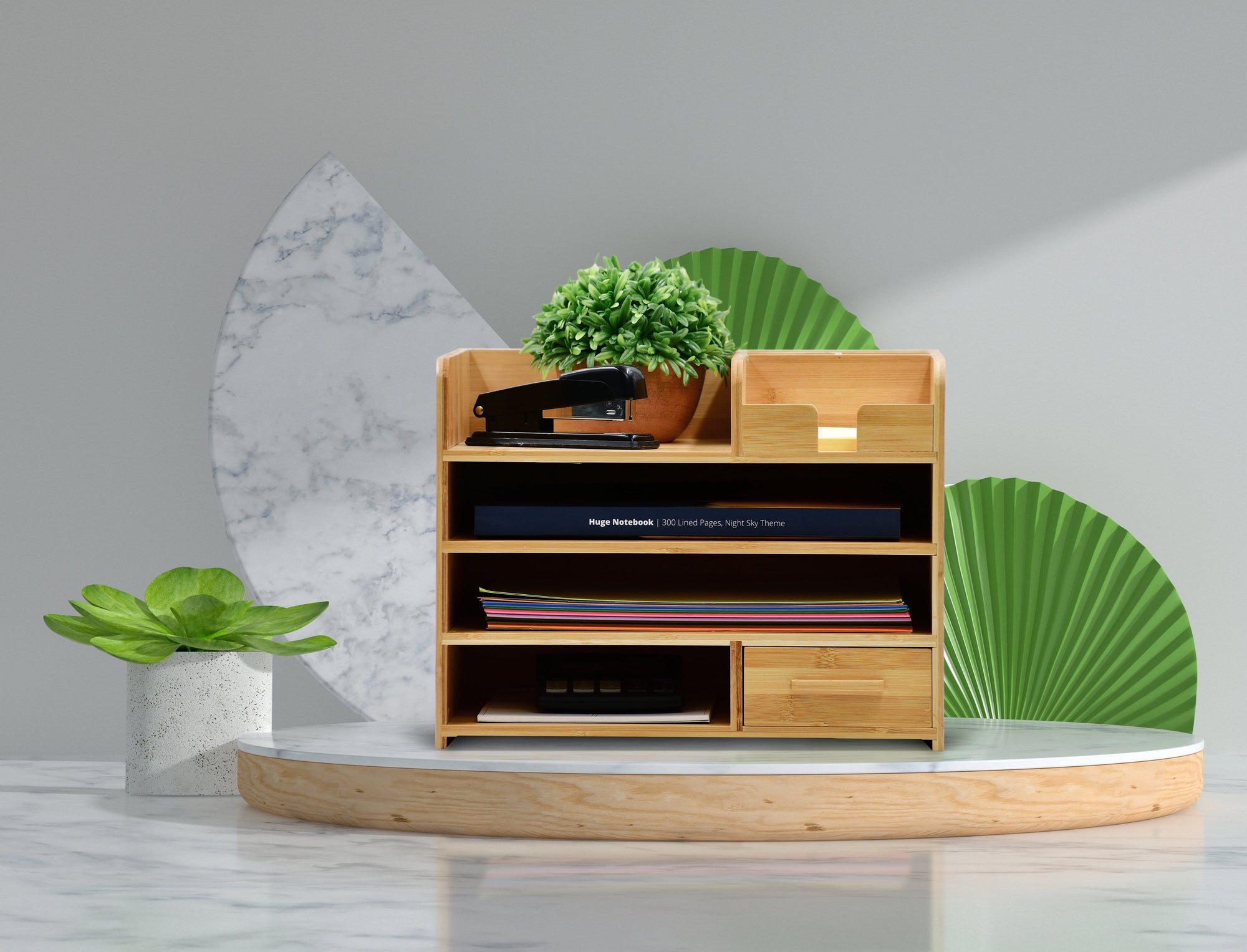 Bamboo Desktop Office Organizer-[variant_title]-Neoletex