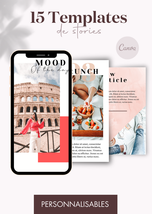 15 Templates de Stories - Pop