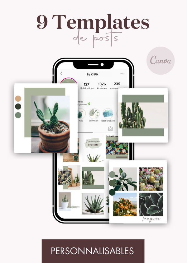 9 Templates de posts - Cactus