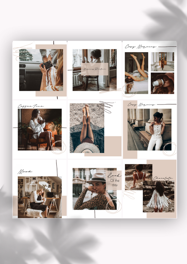 9 Templates de posts - Coffee