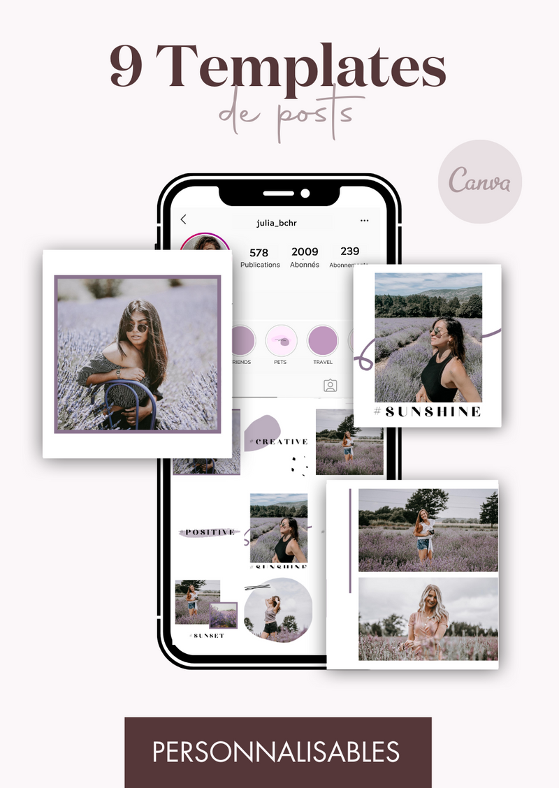 9 Templates de posts - Lavender