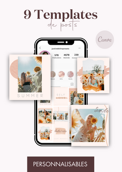 9 Templates de posts - Peach