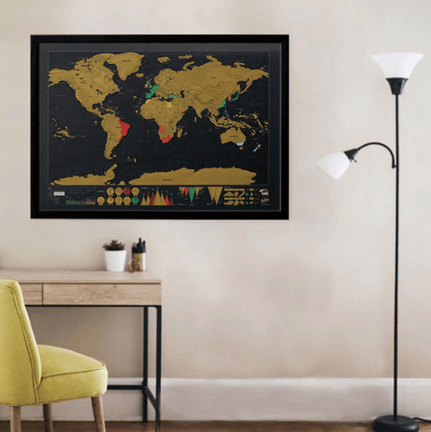 WorldMap™ Mapa de Viajes Raspable - Reelay Chile