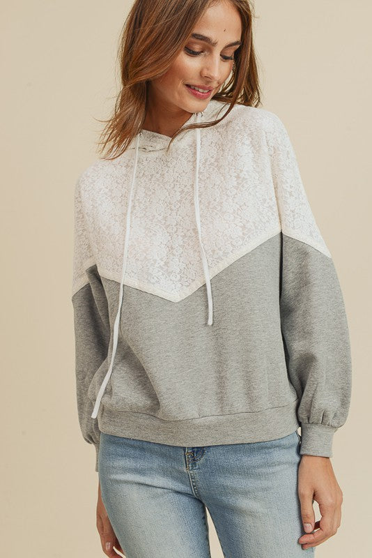 Lacey Chevron Hoodie CLEARANCE (all sales final)