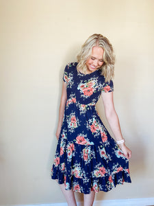 Elisabeth Floral Swing Dress