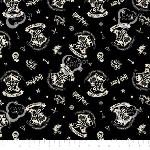 Tissu coton Harry Potter Hogwarts